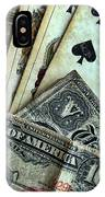 Vintage Playing Cards And Cash IPhone Case