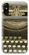 Vintage Typewriter IPhone Case