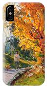 Viola In A Nice Autumn Day  IPhone Case