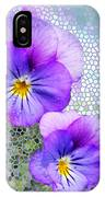 Viola On Glass IPhone Case