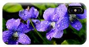 Violet And Raindrops IPhone X Case