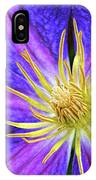 Violet Clematis IPhone Case