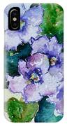 Violet Cluster IPhone Case