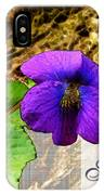 Violet Greeting Card  Sympathy IPhone Case