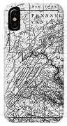 Virginia: Map, C1784 IPhone Case