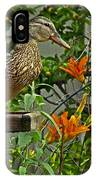 Visitor To The Feeder IPhone Case