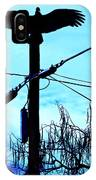 Vulture On Phone Pole IPhone Case