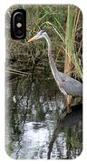 Wading Great Blue Heron IPhone Case