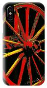 Wagon Wheel In Red IPhone Case