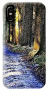 Walk On A Cold Autumn Day IPhone Case