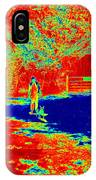 Walking The Dog On A Hot Day IPhone Case