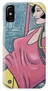 Wall Art Flapper IPhone Case
