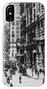 Wall Street Looking Toward Old Trinity Church - New York City - C 1910 IPhone Case