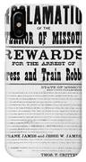 Wanted Poster, 1881 IPhone Case