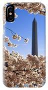 Washington Monument Cherry Trees IPhone Case