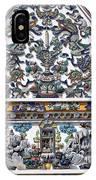 Wat Ratcha Orasaram Ubosot Gable Detail Dthb428 IPhone Case
