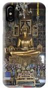 Wat Ratcha Orasaram Ubosot Interior Dthb859 IPhone Case