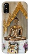 Wat Traimit Golden Buddha Dthb964 IPhone Case