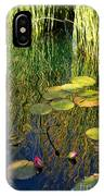 Water Lilies Reflection IPhone Case