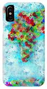 Watercolor Splashes World Map IPhone Case