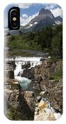 Waterfall At Many Glacier IPhone Case