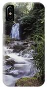 Waterfall In A Forest, Glenoe IPhone Case