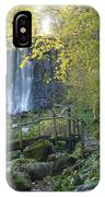 Waterfall Of Vaucoux. Puy De Dome. Auvergne. France IPhone Case