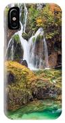 Waterfalls In Autumn Scenery IPhone Case