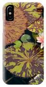 Waterlilies In A Garden Pool IPhone Case
