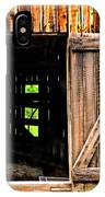 Weathered Barn Door IPhone Case