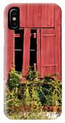 Weathered Broken Red Barn Window Of New Jersey IPhone Case