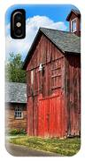 Weathered Red Barn IPhone Case
