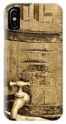 Weathered Wooden Bucket In Sepia IPhone Case