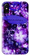 Welcome Flowers In Purple IPhone Case