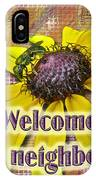 Welcome New Neighbor Card - Bee And Black-eyed Susan IPhone Case