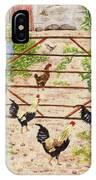 Welsh Farm Cockerels On Patrol IPhone Case