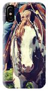 Western Paint Horse IPhone Case