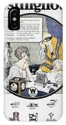 Westinghouse Ad, 1924 IPhone Case