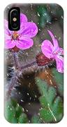 Wet Geranium  IPhone Case
