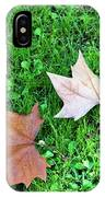 Wet Leaves On Grass IPhone Case