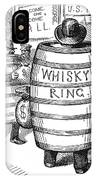 Whisky Ring Cartoon, 1875 IPhone Case