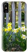 White And Yellow Daffodils IPhone Case