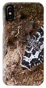 White-banded Black Moth IPhone Case