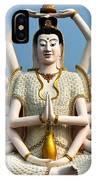 White Buddha IPhone Case