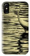 White Crane IPhone Case