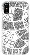White Doodle Circles IPhone Case