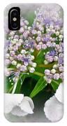 White Lace Cap Hydrangea Blossoms IPhone Case