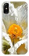 White Paper Flower IPhone Case