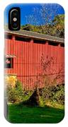 White Rock Forge Covered Bridge IPhone Case