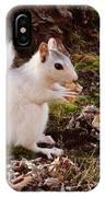 White Squirrel With Peanut IPhone X Case